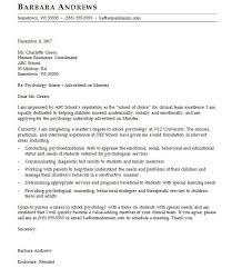 Psychology Cover Letter Sample