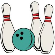 Bowling clipart retro bowling Pencil and in color bowling