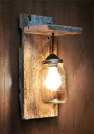 rustic wall sconce light fixture jar light wall fixture wall