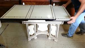 Vintage 1920s To 1940s Enamel Top Cottage Style Kitchen Table