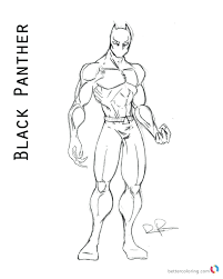 Black Panther Coloring Pages Page Captain America Civil War