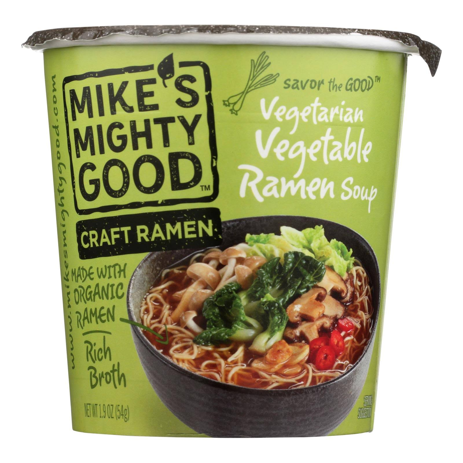 Mikes Mighty Good Craft Ramen Ramen Soup, Vegetarian Vegetable - 1.9 oz