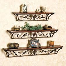 Decorative Metal Wall Shelves Shelf Gray Floating Mounted Display Rustic