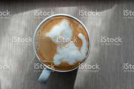 Latte Coffee Art Cat Pattern Royalty Free Stock Photo