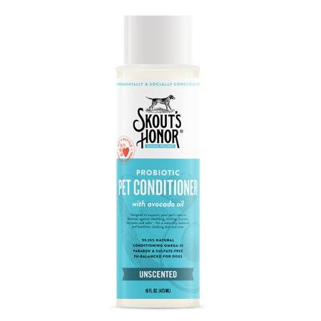 Skout's Honor Probiotic Conditioner Unscented for Dogs, 16 fl. oz.