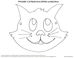 Cat Mask Coloring Page And