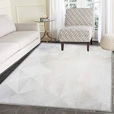 de teppich in grau und weiß polygon design
