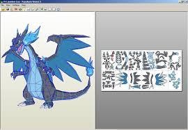 Mega Charizard X Papercraft