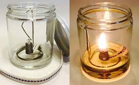 Paraffin Lamp Oil Substitute by Vegetable Oil Fuel For A Lamp