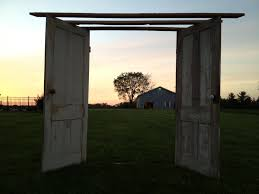 Wedding Arch Made From Barn Wood Old Doors And Knobs Greenery Will Be Added