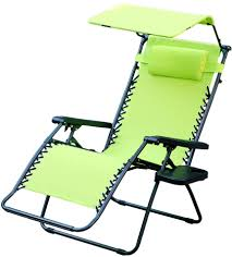 Oversized Zero Gravity Recliner With Canopy by Zero Gravity Chair With Sunshade And Drink Tray In Lime Green