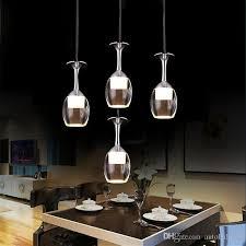 großhandel innenbeleuchtung acryl led pendelleuchte bar esszimmer le led licht 3w weinglasform kreative kurze le weihnachtsbeleuchtung