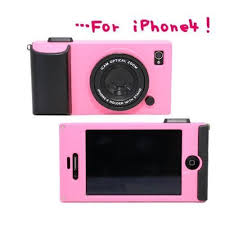 Light Pink iCam Simulation Camera Case Cover for iPhone 4 4S