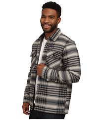 patagonia insulated fjord flannel jacket in black for men lyst