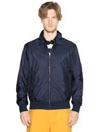 paul u0026 shark nylon bomber jacket in blue for men lyst