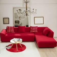 canapé couleur solide couleur élastique coin housse de canapé pour le salon