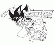 Printable Dragon Ball Z Goku Logo Coloring Page Pages