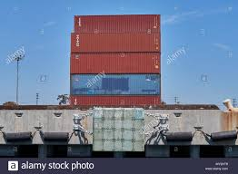 100 Shipping Containers California Stack Of In The Port Of Los Angeles