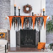 Halloween Fireplace Mantel Scarf by Halloween Mantel Scarf Oriental Trading