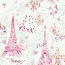 Buy Your Pink Paris Sketch Wallpaper Here Add Some Drama And Texture To Any Room With This Adorable Kids