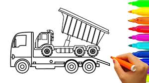 How To Draw Dump Truck Coloring Pages W Learn Color Drawing, Car ... How To Draw Dump Truck Coloring Pages Kids Learn Colors For With To A Art For Hub Trucks Boys Make A Cake Hand Illustration Royalty Free Cliparts Vectors Printable Haulware Operations Drawing Download Clip And Color Page Online