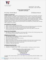 Resume Examples For Security Guard Sample Cover Letter Supervisor Position Save