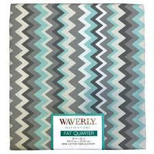 Chevron Print Curtains Walmart by Waverly Inspiration Fat Quarter 100 Cotton Chevron Print Fabric
