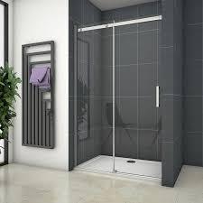 duschkabine duschabtrennung 100 160cm schiebetür 8mm nano glas