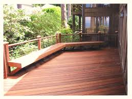 Horizontal Deck Railing Ideas by Bench Bench Seat Deck Railing Deck Railing Designs Benches See S