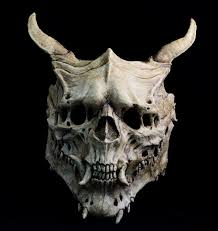 Halloween Silicone Half Masks by Demon Mask Aged Bone Skull Halloween Costume Horror