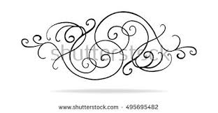 Abstract Curls And Swirls Vector In Symmetrical Pattern Wedding Design Or Victorian Accent Paragraph