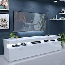 tv lowboard vancouver lowboard tv schrank weiß hochglanz fernsehschrank led