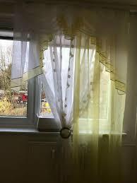 sehr schöne küche gardine 150 cm breit gelb weiß
