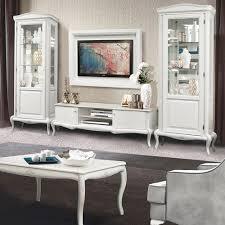 mokko exklusive design wohnzimmermöbel im modernen barock stil weiß mit silberner patina