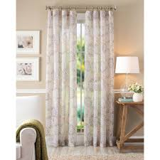 Crushed Voile Curtains Christmas Tree Shop by Better Homes And Gardens Floral Blossom Curtain Panel Ivory