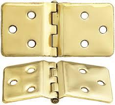 pair of sellers style wraparound hoosier cabinet hinges 1 1 2 x