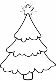 Bare Christmas Tree Template For School
