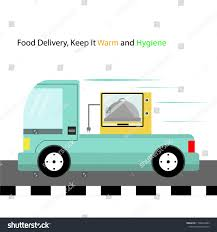 100 Food Delivery Truck Fast Stock Vector Royalty Free