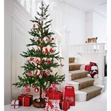 Finest Tall And Slim Christmas Tree Snowy Paper John Lewis With