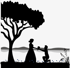 Couple Silhouette Black And White Sketch Love PNG And Vector For