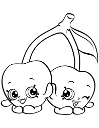 Click To See Printable Version Of Cheeky Cherries Shopkin Coloring Page