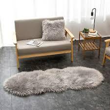 lammfell teppich kunstfell bettvorleger wohnzimmer