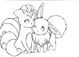 Eevee Coloring Pages To Print 2 Printable Pa