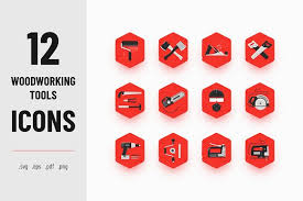 Woodworking Tools Icons Creative Market