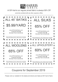 SR Harris Fabric Coupons Fabric Sale Fabricland Coupon Canada Barilla Pasta Printable Coupons Joann Fabric Code 50 Off Zulily July 2018 10 Best Joann Coupons Promo Codes 20 Off Sep 2019 Honey Ads And Indie Fabric Shop Roundup Coupon Chalk Notch Find Great Deals On Designer To Use Code The Big List Of Cadian Online Shops Finished Fabriccom How Order Free Swatches At Barnetthedercom