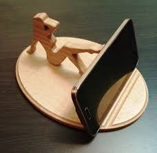 Wooden Phone Holder Lady Stand By WoodDecorTM