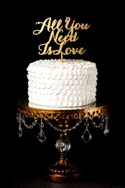 Cake Topper Rustic All You Need Is Love