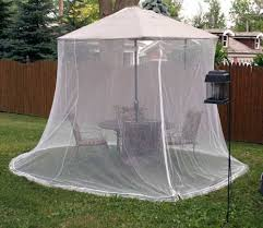 Patio Umbrella With Netting by Patio Umbrella With Attached Netting Patio Outdoor Decoration
