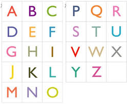 2 Sets Of Free PDF With 26 Printable Alphabet Cards In Upper Case And Lower Colored Or Black White