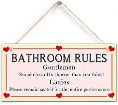 zhongfei badezimmer schild badezimmer regeln hängendes schild mit kleiner herz dekor vervollkommnen sie für hauptdekor 5 x 10